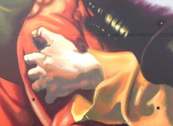 murales andrea ravo mattoni caravaggio3