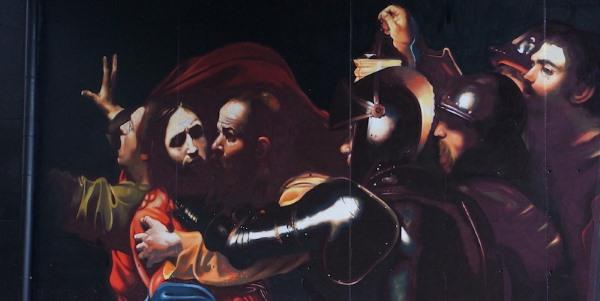 murales andrea ravo mattoni caravaggio5