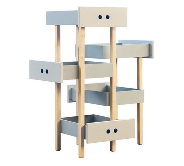albero gatti cassetti
