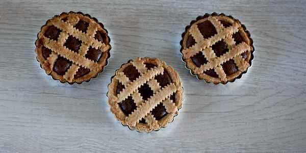 crostatine al cioccolato farina di farro