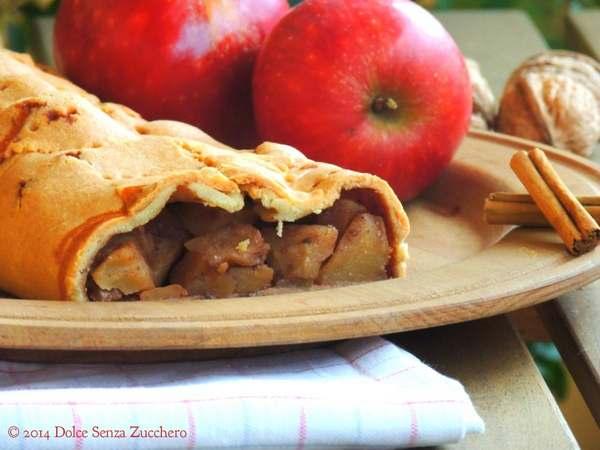 strudel di mele senza zucchero senza farina