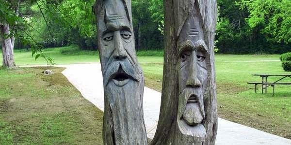 alberi intagliati