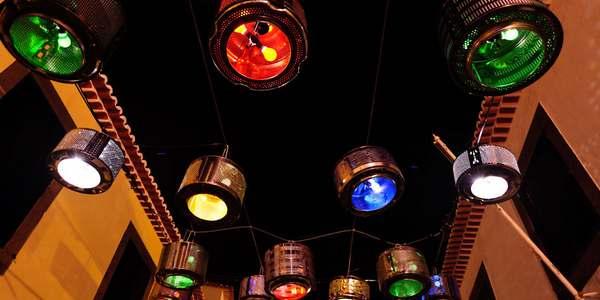 lavatrici lampadari riciclo creativo
