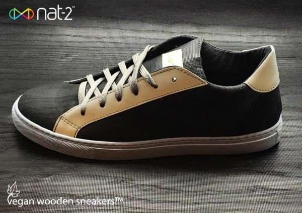 scarpe vegan legno