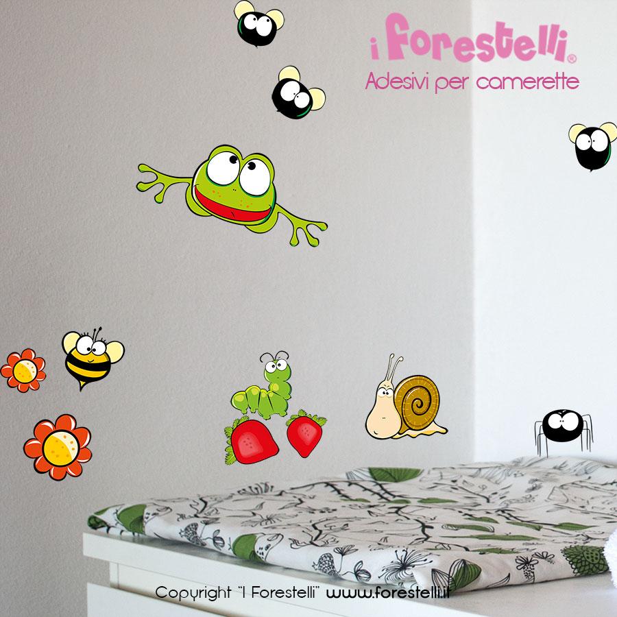stickers cameretta bambini insetti 04