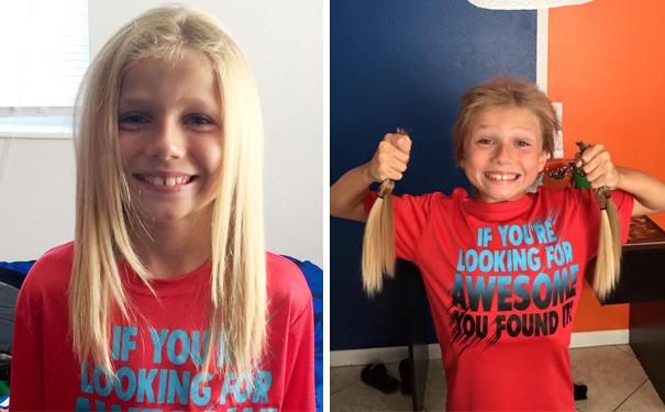 bambini donare capelli