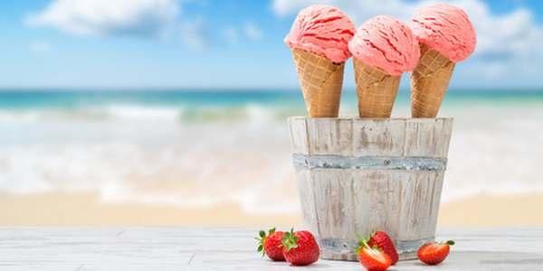 gelato gratis spiaggia