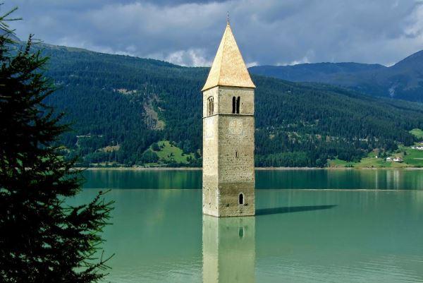 lago di resia e campanile sommerso 1