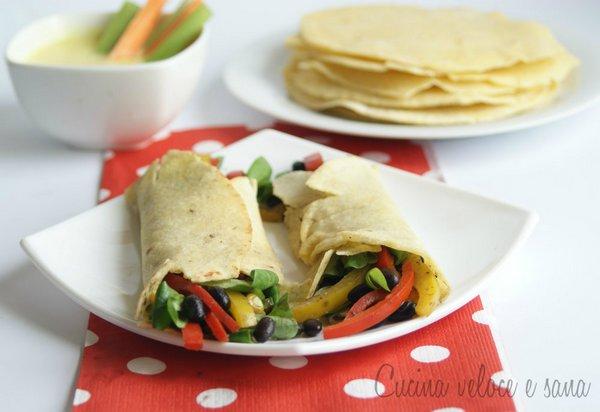 burrito vegan verdure fagioli neri