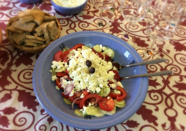insalata greca senza glutine