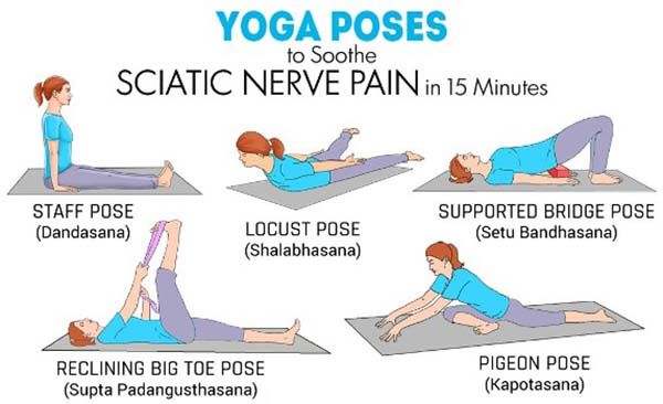 esercizi sciatica yoga