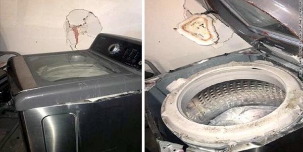 lavatrice esplosa