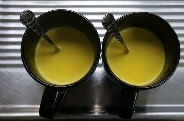 golden milk latte di avena