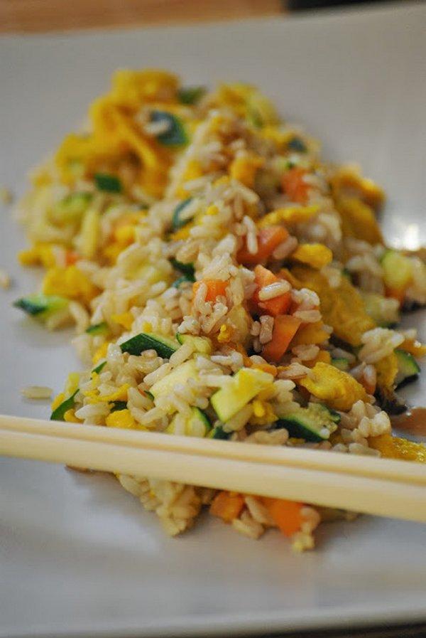 riso cantonese carote zucchine