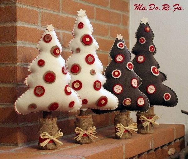 Creare Addobbi Natalizi In Feltro.Albero Di Natale In Feltro E Pannolenci Occorrente E Tutorial
