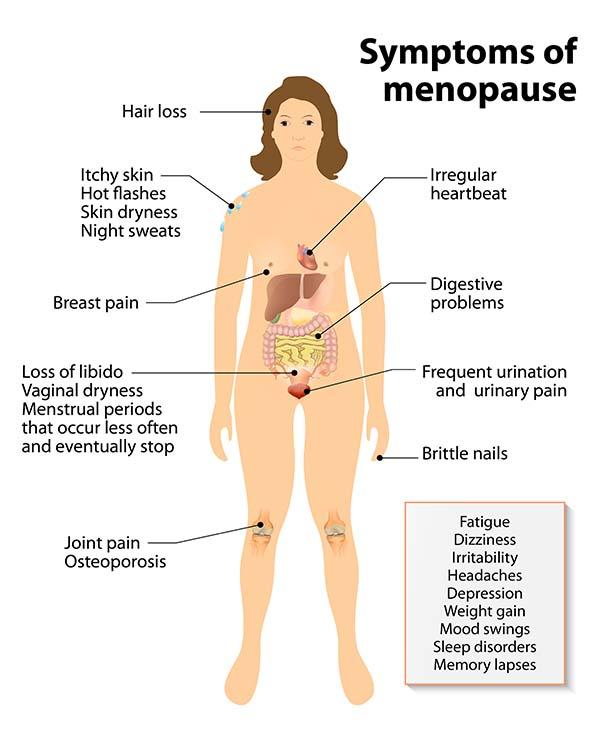 menopausa sintomi