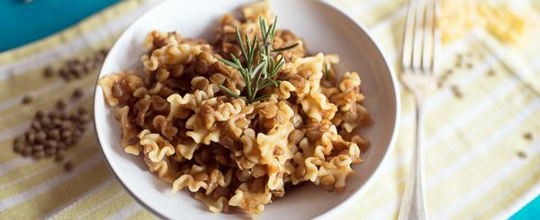 pasta e lenticchie classica