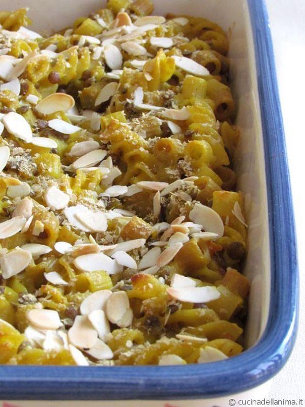pasta e lenticchie pasticciata
