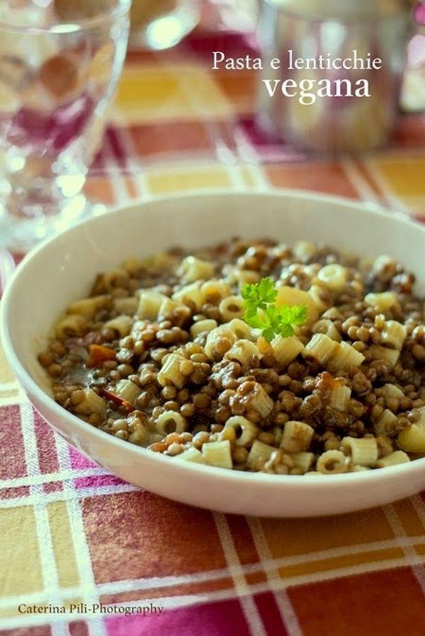 pasta e lenticchie vegana