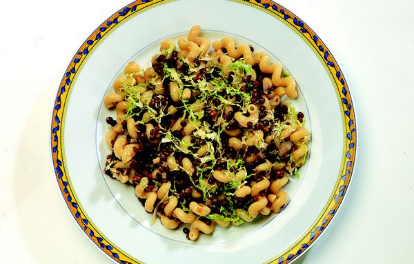 pasta e lenticchie verza