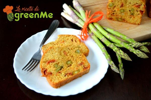 plumcake salato asparagi e pomodori secchi