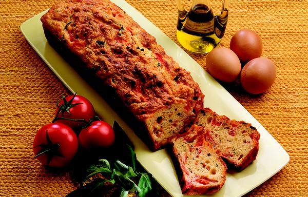 plumcake salato olive pomodori