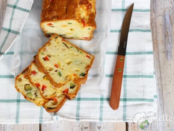 plumcake salato vegetariano