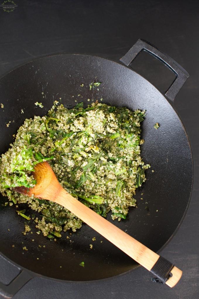 quinoa cime di rapa