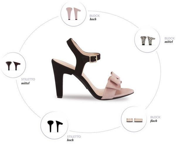Le incredibili scarpe con i tacchi intercambiabili, da