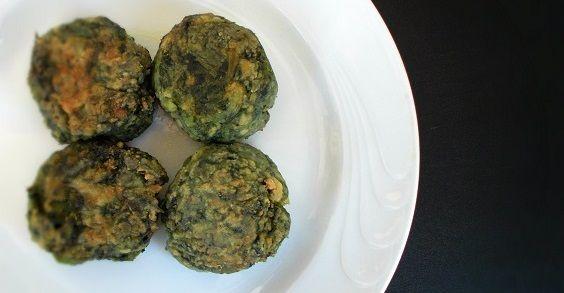 polpette tofu spinaci