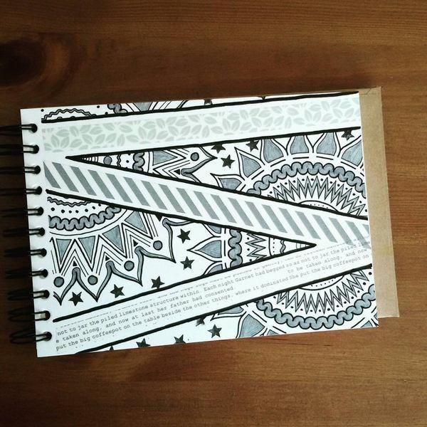 washi tape mandala 3