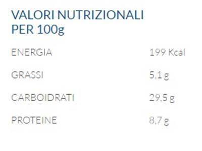 maggi tabella nutrizionale