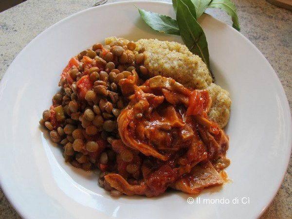polenta e lenticchie