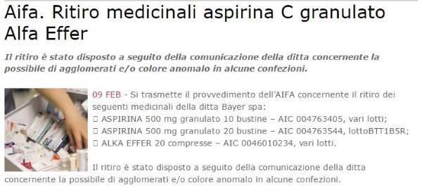 aspirina ritiro1