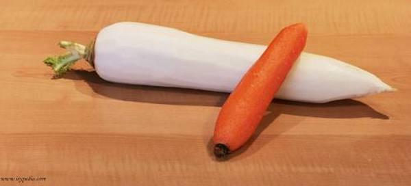 centrifugato di daikon e carota