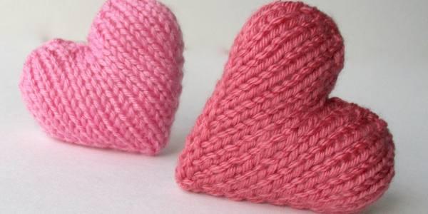 cuore di maglia bambini