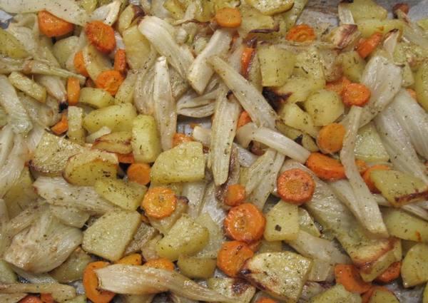 finocchi gratinati patate e carote