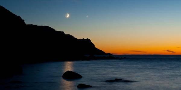 congiunzione Marte luna e Venere