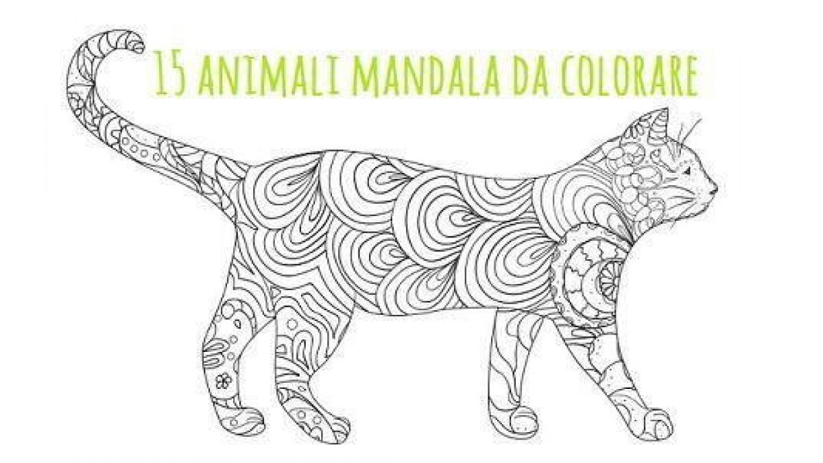Mandala 15 Animali Da Colorare Scarica Gratis Greenme It