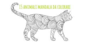 Mandala 15 Animali Da Colorare Scarica Gratis Greenmeit