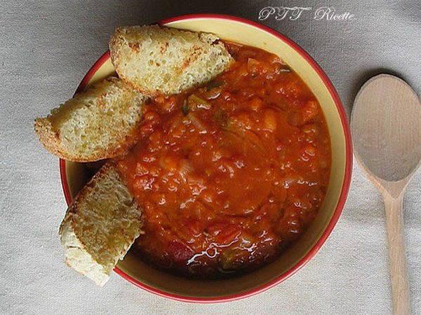 zuppa cipolle fagioli