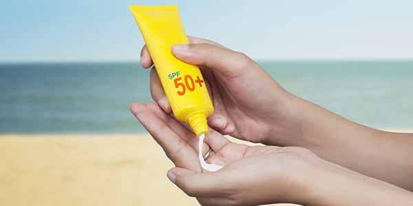 crema solare aperta
