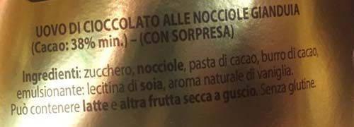 pernigotti gianduia ingredienti