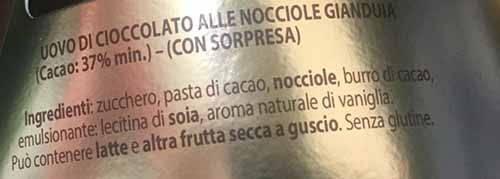 pernigotti gianduianero ingredienti