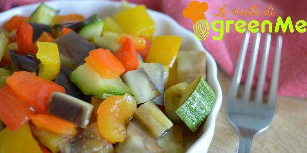caponata zucchine melanzane e peperoni