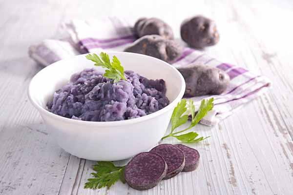 patate viola purea