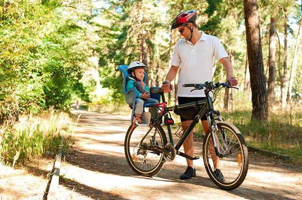 trasportare bambini bici