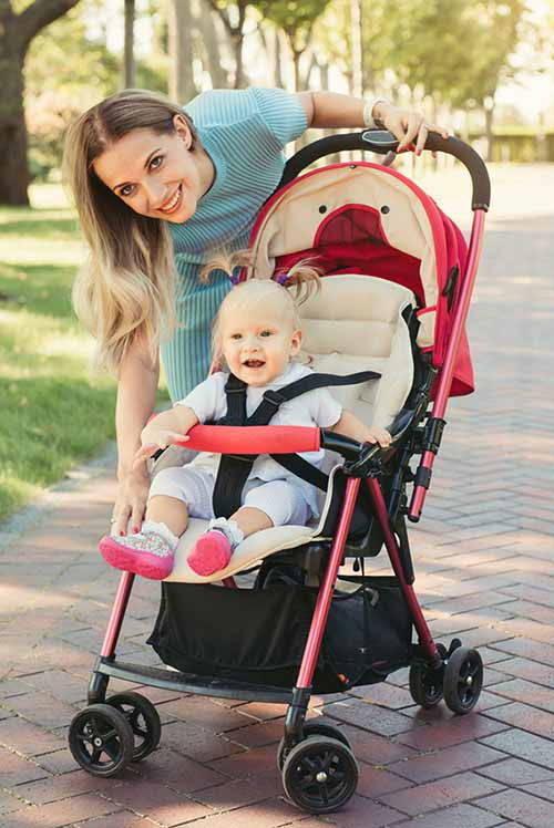 trasportare bambini passeggino