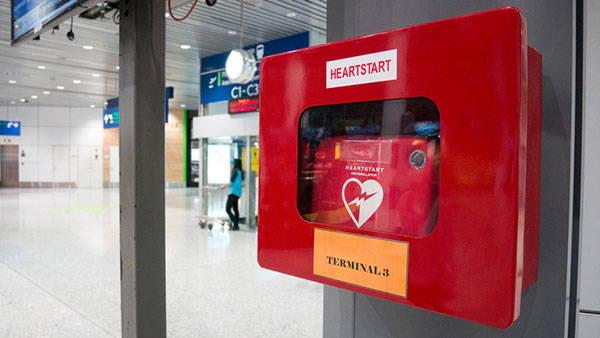defibrillatore posizionato