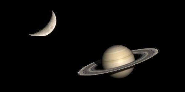 congiunzione luna saturno 24 ottobre